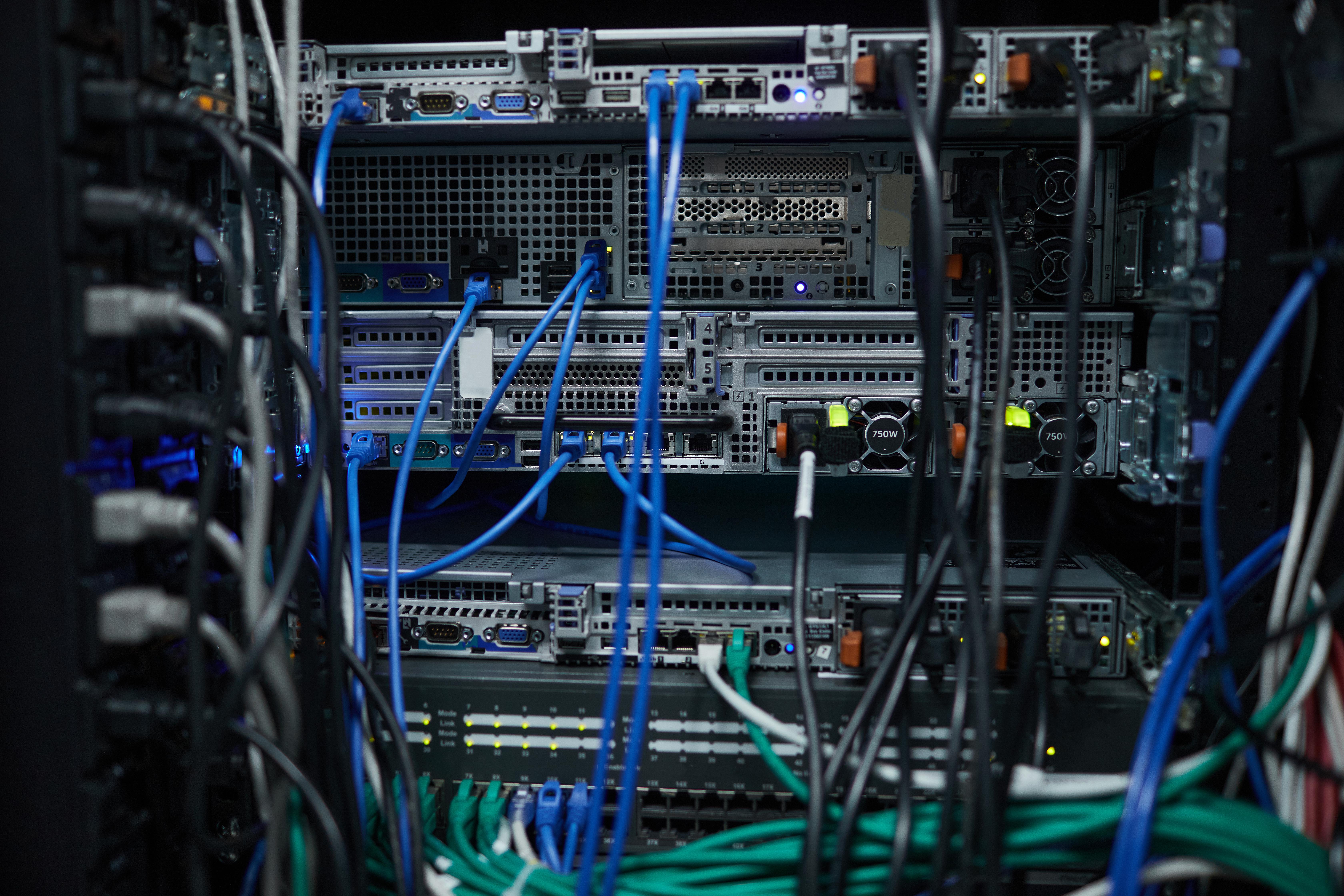 blade server network close up J9AASJG